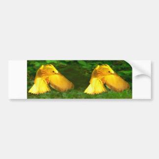 Taza de la curruca amarilla etiqueta de parachoque