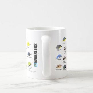 taza de la curruca de 15oz BirdFace
