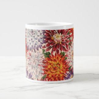 Taza de la dalia del cactus de la tela de Philip Taza Grande