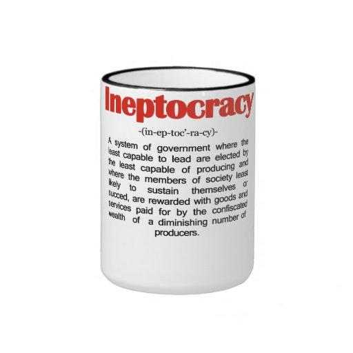Taza de la definición de Ineptocracy