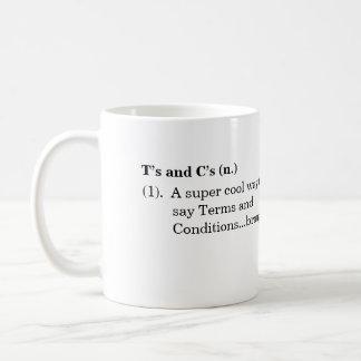 """Taza de la definición de los """"t y de las c"""""""