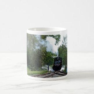 Taza de la demostración del vapor