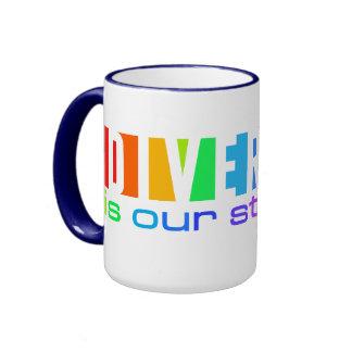 Taza de la diversidad - elija el estilo y el color