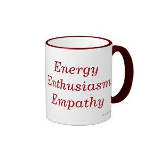 Taza de la empatía del entusiasmo de la energía