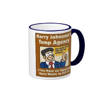 Taza de la empresa de trabajo temporal de Harry Jo