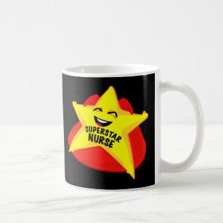 ¡taza de la enfermera de la superestrella! taza