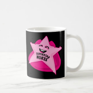 ¡taza de la enfermera de la superestrella! taza clásica