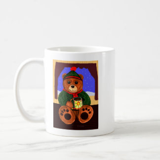 Taza de la escena del oso del cacao