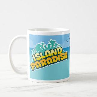 Taza de la escena del paraíso de la isla