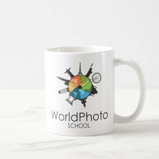 Taza de la escuela de la foto del mundo