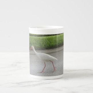 Taza de la especialidad de Ibis que camina Taza De Porcelana