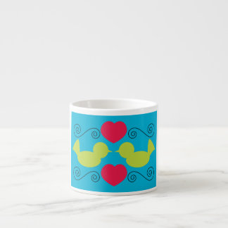 Taza de la especialidad de las palomas del amor taza espresso
