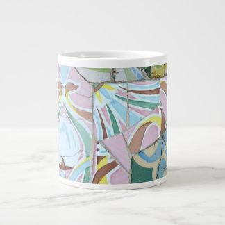 Taza de la especialidad de los mosaicos de Guell d Tazas Jumbo