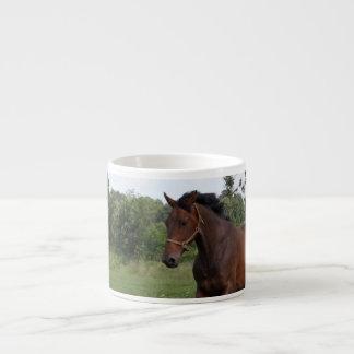 Taza de la especialidad del caballo de bahía tazas espresso