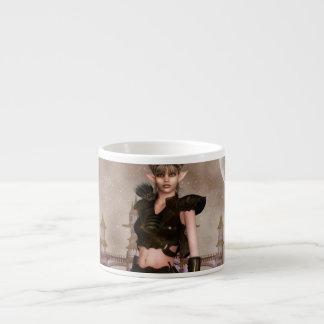Taza de la especialidad del duende de la fantasía taza espresso