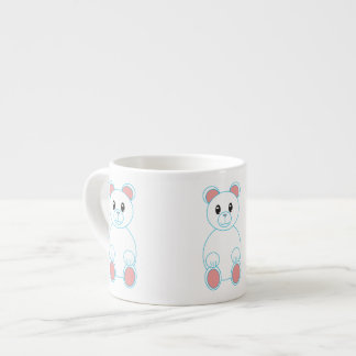 Taza de la especialidad del oso polar taza espresso
