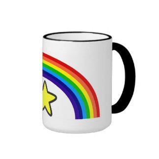 Taza de la estrella del arco iris