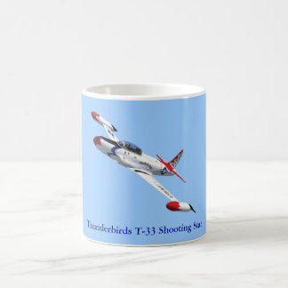 Taza de la estrella fugaz de los Thunderbirds T-33