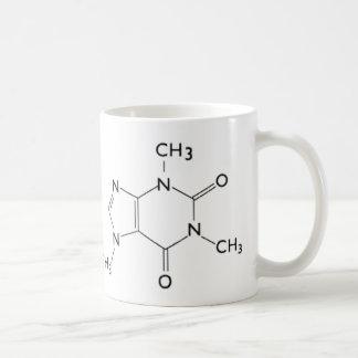 Taza de la estructura química del cafeína