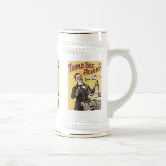 Taza de la etiqueta del licor del vintage de Allar