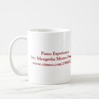 Taza de la experiencia del piano de Mengesha Mystr