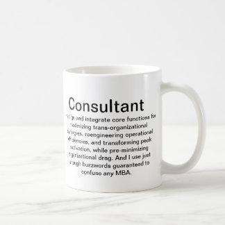 Taza de la explicación del consultor