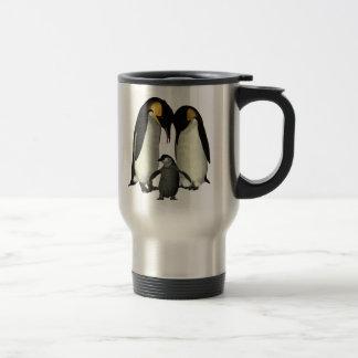 Taza de la familia del pingüino