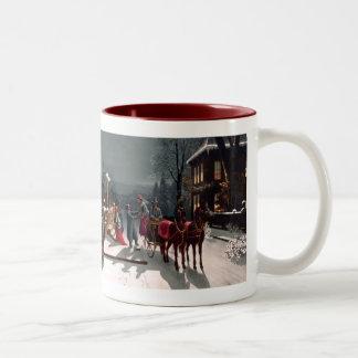 Taza de la fiesta de Navidad del Victorian