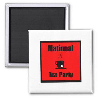 Taza de la fiesta del té de Nationa de té Imán Cuadrado