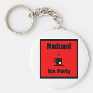 Taza de la fiesta del té de Nationa de té Llavero Redondo Tipo Pin