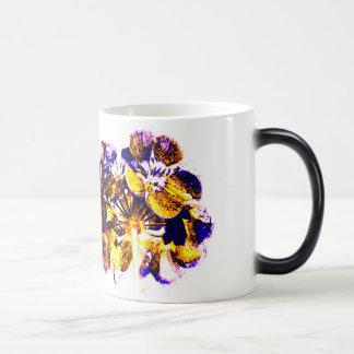Taza de la flor Azul-Amarilla