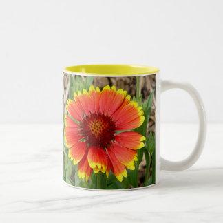 Taza de la flor combinada