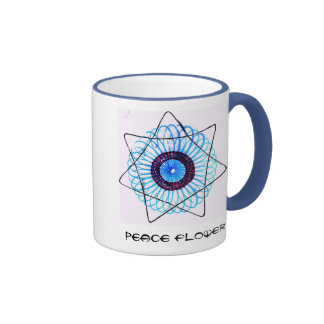 Taza de la flor de la paz