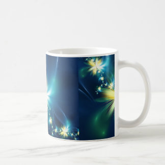 Taza de la flor del fractal de la diversión