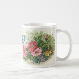 Taza de la flor del vintage