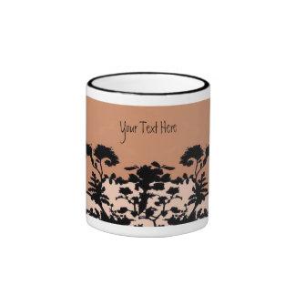 Taza de la floración del jardín - moho, personaliz