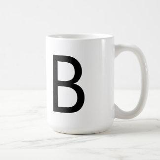 """Taza de la fuente """"B"""" de Futura"""
