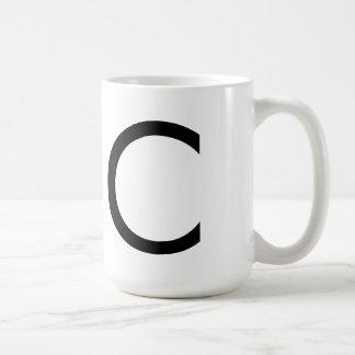"""Taza de la fuente """"C"""" de Futura"""