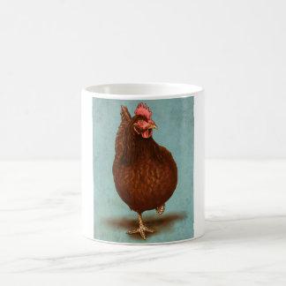 Taza de la gallina del rojo de Rhode Island