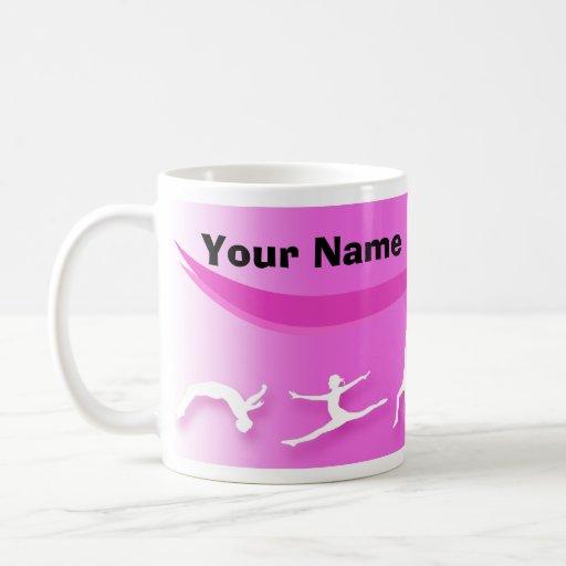 ¡Taza de la gimnasia - añada un nombre! Taza De Café