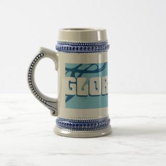 Taza de la gloria/cerveza azules Stein