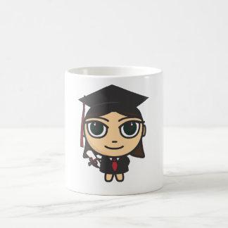 Taza de la graduación del personaje de dibujos
