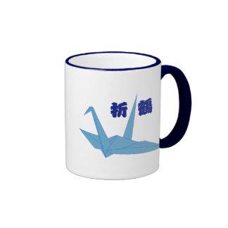 Taza de la grúa de Origami