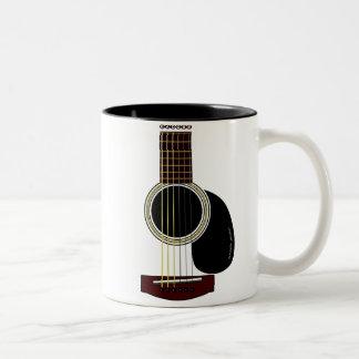 taza de la guitarra acústica