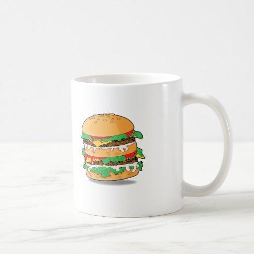 Taza de la hamburguesa del dibujo animado