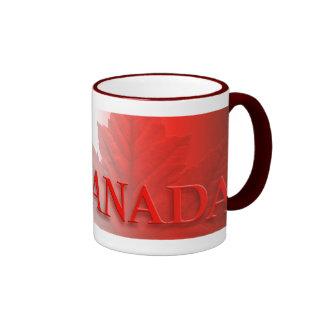 Taza de la hoja de arce de la taza de café de la t