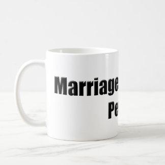 Taza de la igualdad de la boda