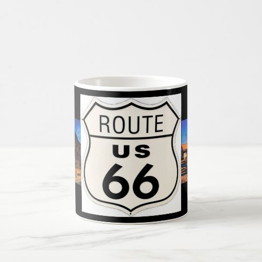 Taza de la imagen de la ruta 66