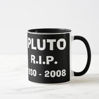 Taza de la imagen de Plutón R.I.P del planeta