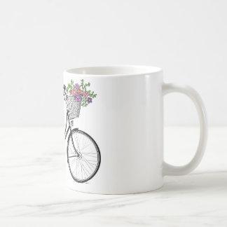 Taza de la impresión de la bicicleta del vintage